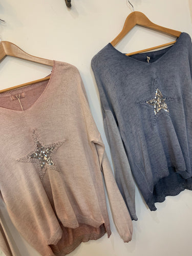 Italian Star Sequin Star Top