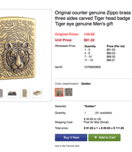 Load image into Gallery viewer, Tiger Eye Gold