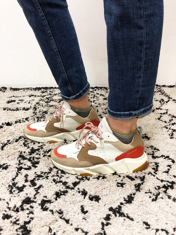 Baskets Adix/ White tan