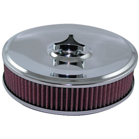 AIR CLEANER ASSEMBLY 4BBL 9inx55mm TALL-CHROME LID