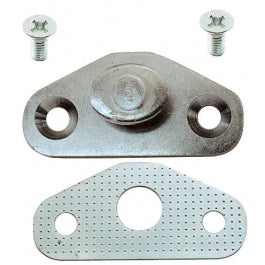 STRIKER PLATE DOOR XR-C INC SCREWS - SILVER - EACH