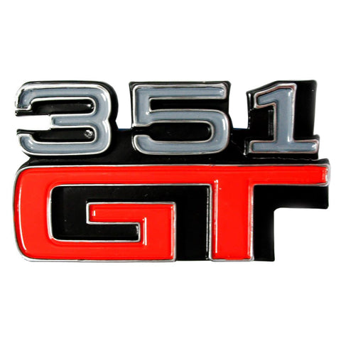 BADGE GT351 XA-B GT FENDER AND COUPE REAR
