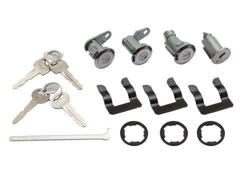 LOCK SET XW-Y/ZA-D IGNITION & 2 DOOR BARRELS