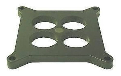 CARBURETTOR SPACER 4BBL SQ/BORE 1/2in 4-HOLE BAKERLITE