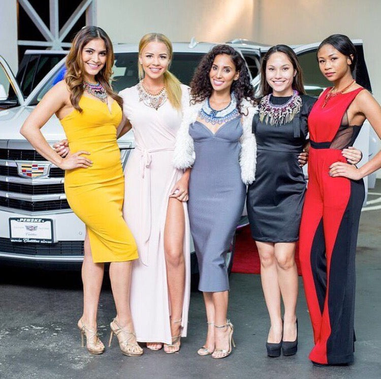 Cadillac commercial to air in USA – Featuring our blush pink Wrap Dress