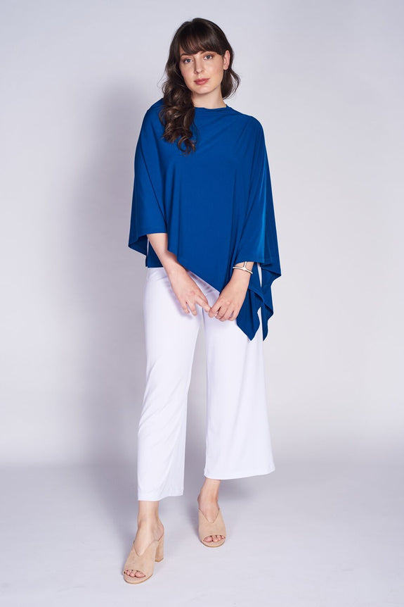 Pure Poncho #PUR-6020 Teal. Crop Pant #CLT-3012 White - Code Vitesse