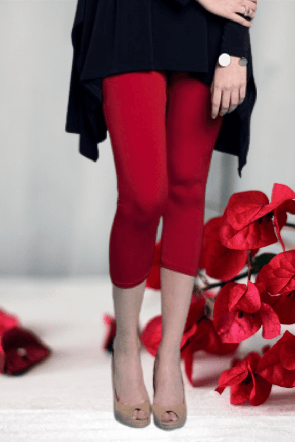 Crop Tights Red - Code Vitesse