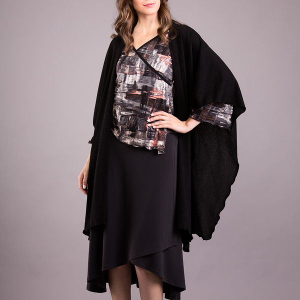 Shawl / Cape - Mirage Knit - Code Vitesse