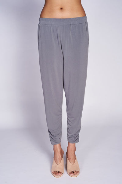 Rouched Trouser #TRU-3021 Grey - Code Vitesse