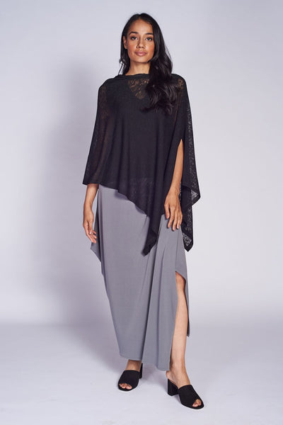 Pure Poncho Textured Mesh Knit. - Code Vitesse