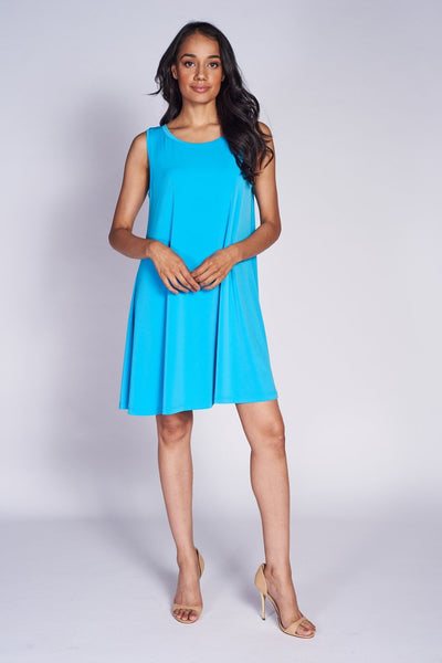Aline Dress (short) Aqua