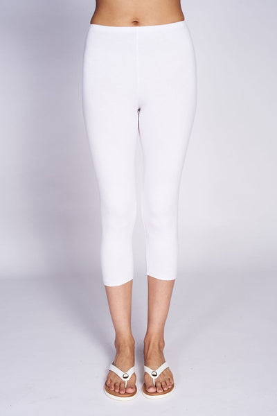 Crop Tight #TCR-3005 Bamboo White