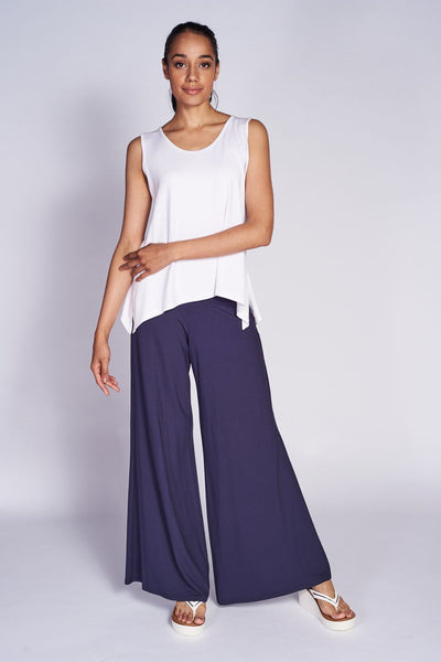 Slim Side Slit Tank (Short) - Bamboo - Code Vitesse