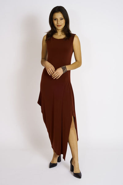 Angled Dress #ANG-5002 Bordeaux