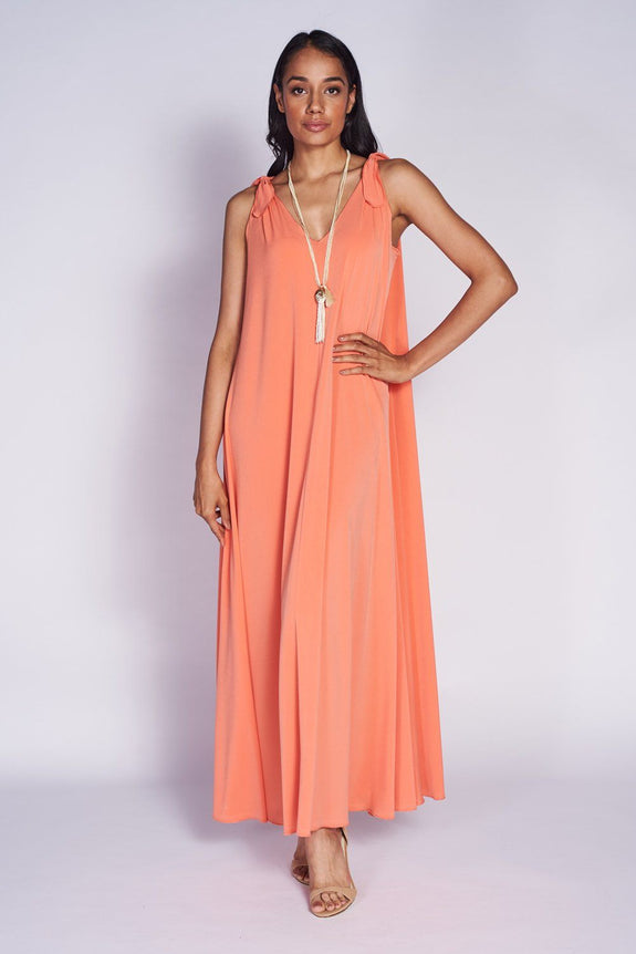 Palm Springs Dress #PLM-5030 Coral - Code Vitesse