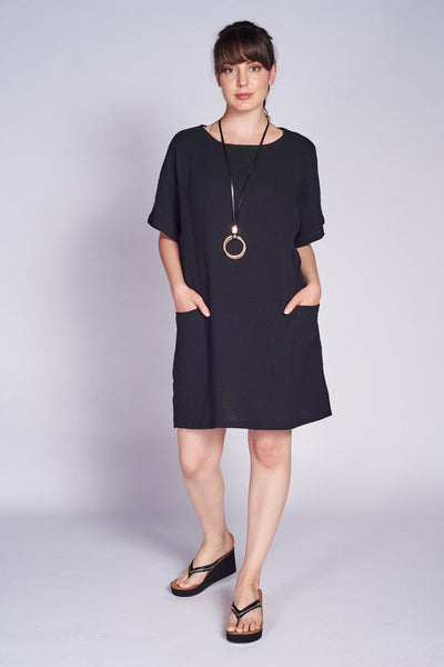 Pocket shift Dress 100% Cotton - Code Vitesse