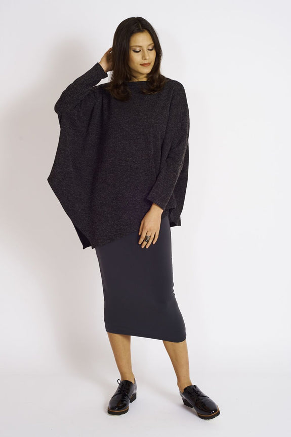 Ashmore Sweater Knit Diamond Hem Tunic