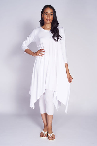 Flare Dress #FLR-5009 Bamboo White. Crop Tight #…mboo White