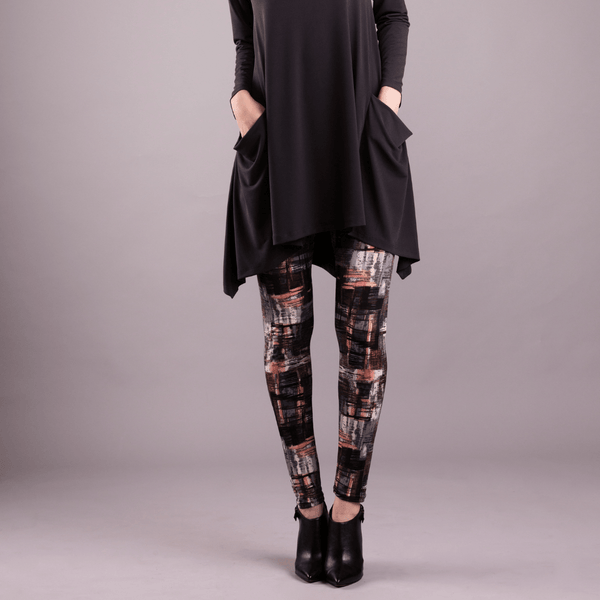 Long Legging Multi Grey Print - Code Vitesse