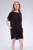 Pocket Shift Dress - Bamboo - Code Vitesse