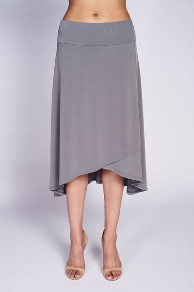 Faux wrap Flirt Skirt #FLS-4005 Grey