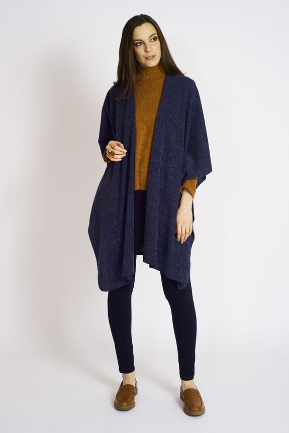 Ashmore Sweater Knit Shawl #ASH-SHL-6003 Navy.…TT-3002 Navy