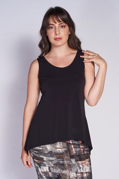 Slim Side Slit Tank (Short) #SLM-1011 Black - Code Vitesse