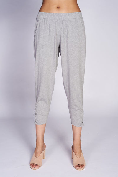 Rouched Trouser #TRU-3021 Bamboo Melanage Grey - Code Vitesse