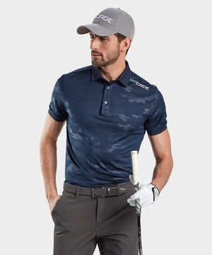 Navy Blue Camo Polo Shirt