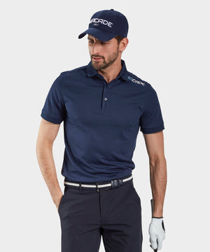Navy Blue Performance Polo Shirt
