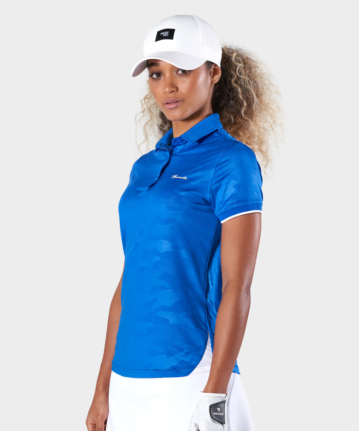 Azure Camo Flex Polo Shirt