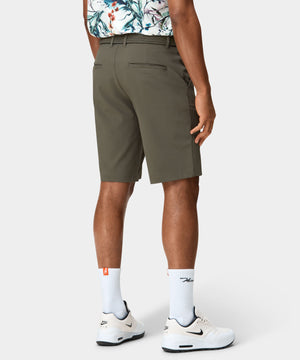 Olive Four-Way Stretch Shorts