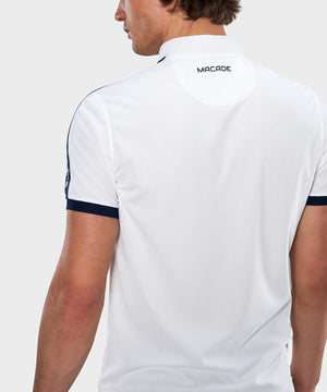 White Performance Bomber Polo Shirt
