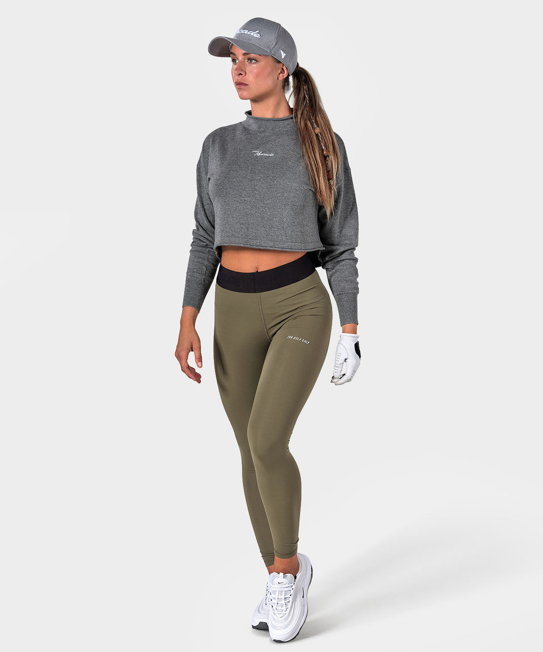 Grey Cropped Turtle Sweater