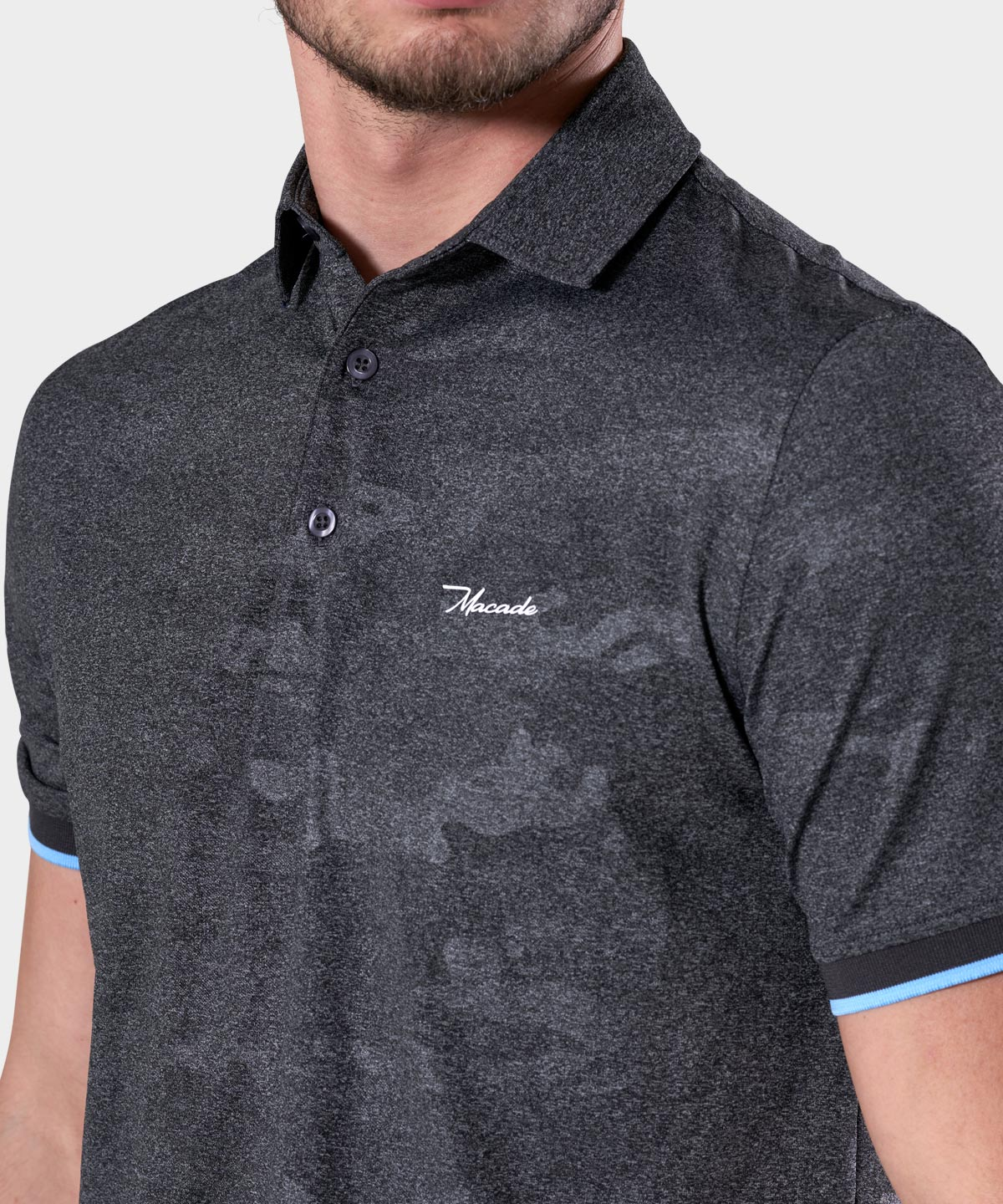 Grey Club Camo Polo Shirt