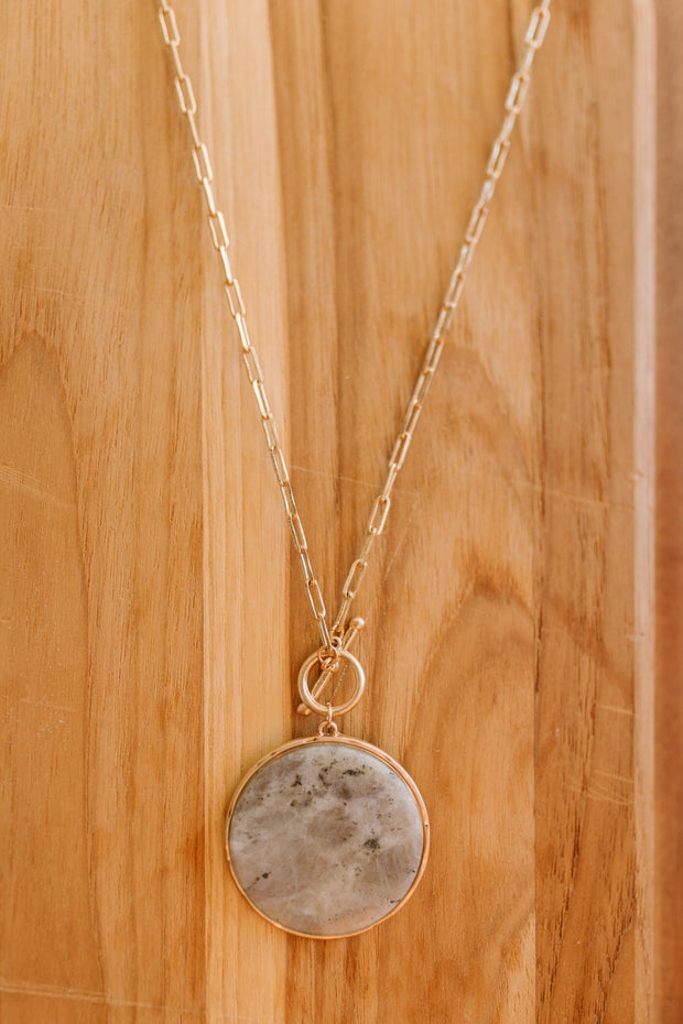 Marble And Chain Necklace