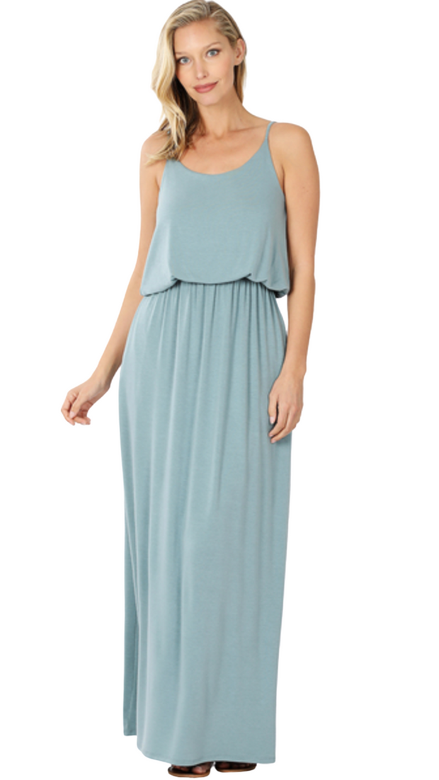 Play The Day Away Maxi In Blue Gray