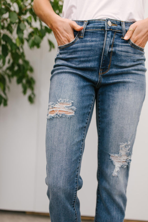 Judy Blue Best of Both Worlds Cropped Jeans