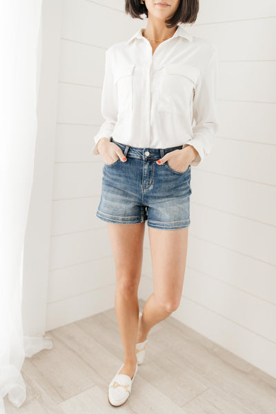 Bring On Spring Denim Shorts