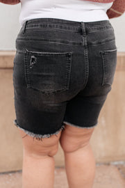 Distressed and Destroyed Denim Shorts