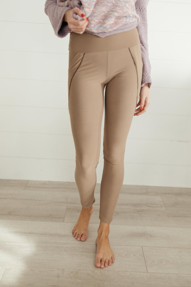 Dressin' Casual Leggings in Taupe