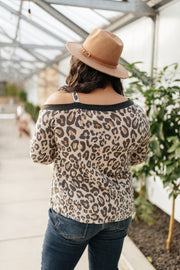 Grin & Bare It Animal Print Top in Ivory