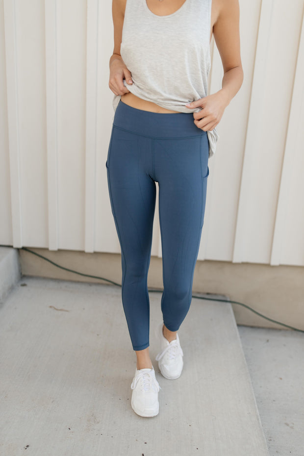 Kickin' It Leggings in Blue