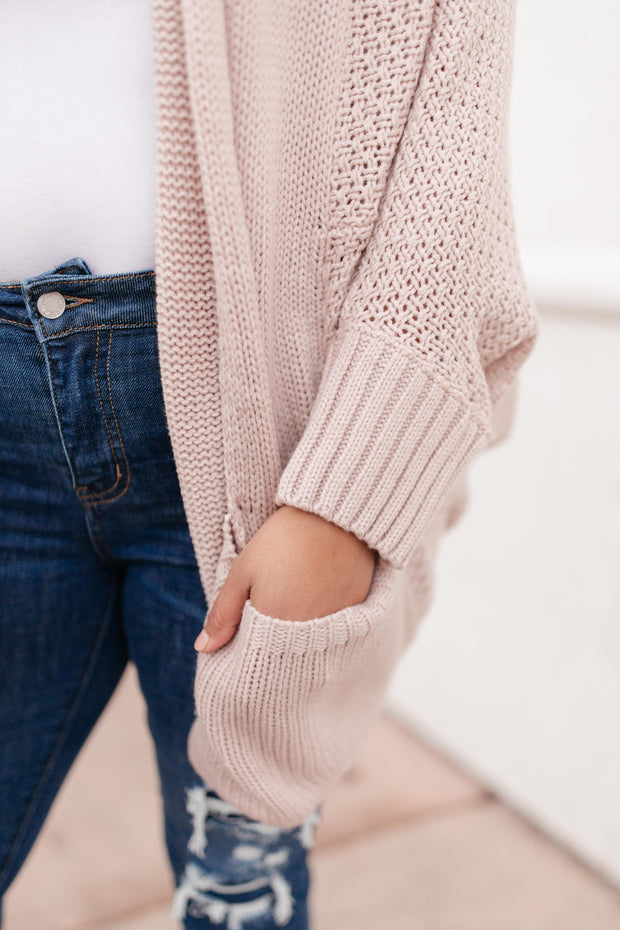 Not Your Grandmother's Cardigan in Dusty Blush