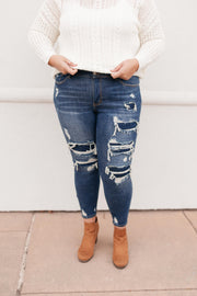 Patched Things Up Jeans