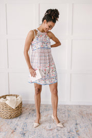 Quilted With Florals Day Dress