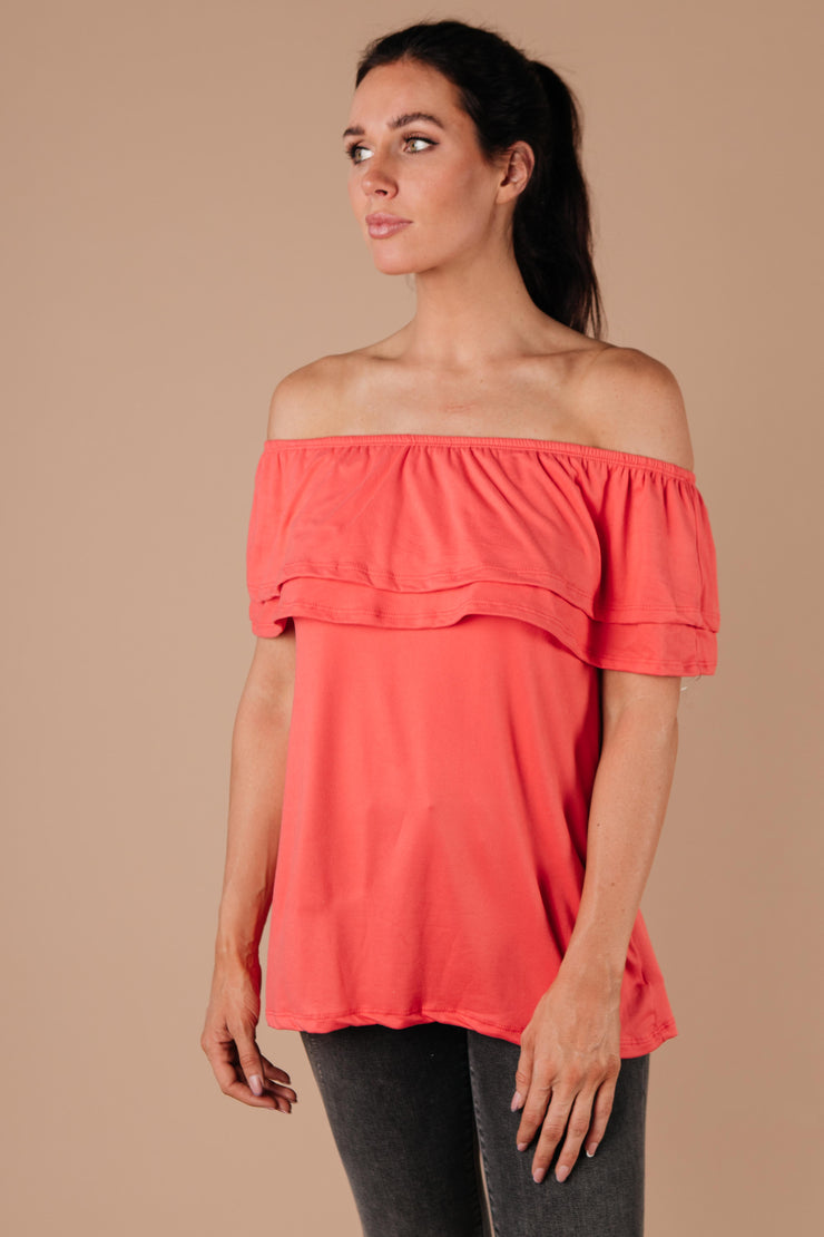 Sexy Señorita Off-Shoulder Top In Pink