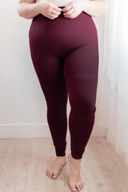 So Soft Inside Leggings in Burgundy