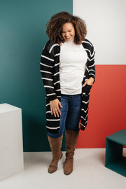 The Janessa Striped Cardigan