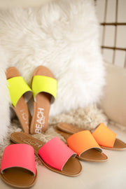 Matisse Cabana Sandal in Orange Neon